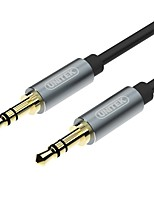 Unitek Audio jack de 3.5mm Cable, Audio jack de 3.5mm to Audio jack de 3.5mm Cable Macho - Macho 408P Cobre dorado 0,5m (1.5ft) 480 Mbps