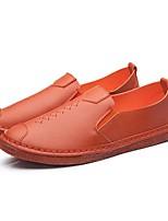 Men's Sneakers Comfort Microfibre Spring Summer Fall Winter Casual Outdoor Office & Career Walking Comfort Split Joint Flat HeelOrange