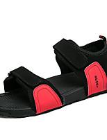 Men's Sandals Comfort PU Summer Casual Comfort Flat Heel Ruby Gray Black Flat