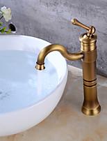Set de centre Jet pluie 1 trou for  Cuivre antique , Robinet lavabo