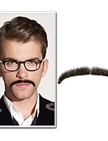 Neitsi 1Pcs Men's Moustache 100% Human Hair Handmade Moustache Fashion Cosplay Accessories EM-749MHH