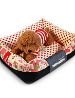 Dog Bed Pet Mats & Pads Solid Warm Soft Blue Ruby Coffee