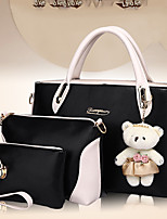 Women Bag Sets PU Nylon All Seasons Wedding Event/Party Casual Formal Outdoor Office & Career Square Zipper Metallic ZipperBlushing Pink
