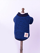 Dog Sweater Dog Clothes Casual/Daily Solid Blue Ruby Yellow Gray