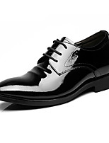 Men's Oxfords Formal Shoes Cowhide Patent Leather Spring Fall Casual Office & Career Formal Shoes Black Under 1in