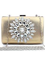 L.WEST Woman Fashion Luxury High-grade Metallic Artificial Diamond Evening Bag