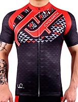 Camisa para Ciclismo Mulheres Homens Manga Curta Moto Camisa/Roupas Para Esporte Secagem Rápida Reduz a Irritação Elasticidade Alta Leve