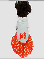 Dog Coat Dress Dog Clothes Casual/Daily Polka Dots Orange