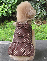Dog Coat Dog Clothes Keep Warm Polka Dots Green Coffee Black