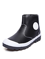 Women's Boots Fashion Boots Bootie Leatherette Fall Winter Casual Outdoor Fashion Boots Bootie Flat Heel Gray Black White Flat