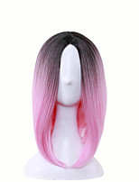 Color Gradient Wigs Bobo Heads Short Duo Pie Worms Divided Sending Net 10inch