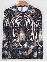 Men's Daily Sweatshirt Animal Print Round Neck Micro-elastic Cotton Long Sleeve Spring