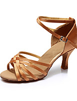 Women's Latin Silk Sandals Indoor Customized Heel Nude Customizable