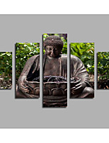 Black Indian Buddha Statue In The Forest 5 Panels Canvas Printings Unframed Pictures Living Room Decor Figure Paintings Modern Artwork
