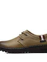 Men's Sneakers Comfort Light Soles Formal Shoes Fall Winter Real Leather Cowhide Casual Outdoor Office & Career Lace-up Flat Heel Brown