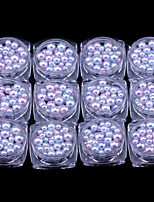 12PCS Nail Art Decoration Rhinestone Pearls Makeup Cosmetic Nail Art Design