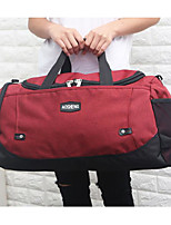 Men Travel Bag Polyester All Seasons Casual Outdoor Rectangle Zipper Red Black Blue