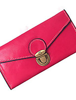 Women Coin Purse PU All Seasons Casual Outdoor Round Zipper Blushing Pink Red Black
