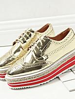 Для женщин Мокасины и Свитер Удобная обувь Полиуретан Весна Повседневные Удобная обувь Золотой Черный Серебряный 2,5 - 4,5 см