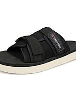 Men's Sandals Comfort PU Spring Summer Casual Comfort Low Heel Khaki Blue Yellow Black Under 1in