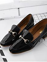 Для женщин Мокасины и Свитер Удобная обувь Полиуретан Весна Повседневные Удобная обувь Белый Черный 2,5 - 4,5 см