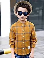 Boys' Print Tee,Cotton Rayon Polyester Spring/Fall Long Sleeve