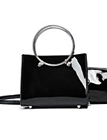 Women Bag Sets PU All Seasons Casual Outdoor Round Zipper Red Black Green