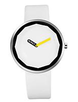 Муж. Модные часы Кварцевый Кожа Группа минималист Черный Белый