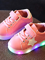 Kids Boys Girl's Sneakers Light Up Shoes Leather Tulle Spring Summer Fall Casual Outdoor Walking Light Up Shoes LED Low HeelBlushing Pink Yellow