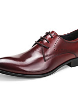 Men's Wedding Shoes Formal Shoes Cowhide Leather Spring Fall Wedding Office & Career Party & Evening Formal Shoes Burgundy Black Under 1in