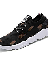 Men's Sneakers Comfort Breathable Mesh Spring Fall Athletic Casual Outdoor Gore Flat Heel Black/White Black/Red Black/Yellow Flat