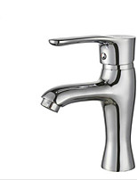 Bathroom basin faucet water mixer hot and cold Brass single hole basin fauce