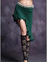 Danza del Vientre Falda Mujer Entrenamiento Modal Plisado 1 Pieza Cintura Media Faldas