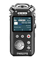 PHILIPS VTR8800 Digital Voice Recorder 3 Microphones Are Large Color 16G 12 Channels