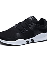 Men's Sneakers Comfort Tulle Spring Fall Athletic Casual Outdoor Flat Heel White Black Black/White Flat