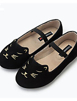 Girls' Flats Comfort First Walkers Cowhide Spring Fall Casual Walking Comfort First Walkers Magic Tape Low Heel Navy Blue Black Flat
