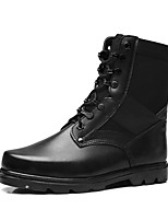 Men's Boots Fashion Boots Motorcycle Boots Bootie Winter Real Leather Nappa Leather Cowhide Casual Outdoor Office & Career Lace-up Flat