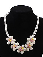Crystal Flower Pendant Necklace Bohemia Pendant Chain Necklaces Rock Euramerican Women's Party Birthday Beach Movie Gift Jewelry