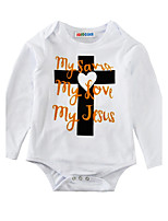 Baby Geometic Print One-Pieces Cotton Spring/Fall Summer Long Sleeve Baby Romper Cross Letter Newborn   Jumpsuits Bodysuits