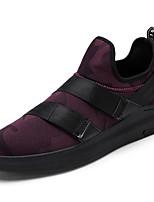 Da uomo Sneakers Comoda Suole leggere Tulle Primavera Autunno Casual Comoda Suole leggere Lacci Piatto Nero Bianco/nero Nero/Rosso Piatto