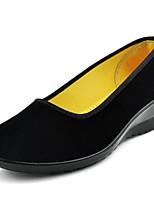 Feminino Mocassins e Slip-Ons Conforto Tecido Primavera Verão Casual Conforto Anabela Preto Menos de 2,5cm