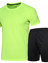 Men's Short Sleeve Running Clothing Suits Fitness, Running & Yoga Summer Sports Wear Running/Jogging Fitness Loose