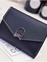 Women Checkbook Wallet PU All Seasons Casual Square Zipper Blushing Pink Navy Blue Black