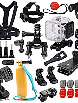 QQT for Gopro 4S Waterproof shell camera accessories set for Gopro 5 4s 3 SJ4000 SJCAM and Universal camera accessories