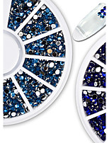 1pcs Fashionable Jewelry Nail Art Shining Crystal Decoration Gorgeous Blue Rhinestone Nail Art DIY Beauty Charm Design