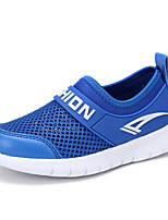 Boys' Loafers & Slip-Ons Comfort Light Soles Spring Summer Tulle Walking Shoes Casual Outdoor Flat Heel White Dark Blue Royal Blue Flat