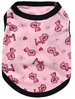 Dog Vest Dog Clothes Casual/Daily Hearts Random Color Blushing Pink Orange Black