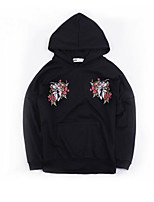Women's Casual/Daily Hoodie Animal Print Embroidery Hooded strenchy Cotton Polyester Long Sleeve Spring Fall