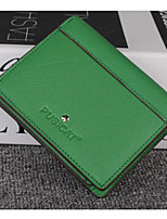 Women Money Clip Cowhide All Seasons Casual Square Snap Green Gray Orange