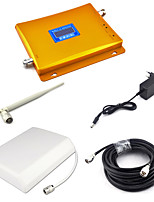 3G 2100mhz Signal Booster W-CDMA Signal Repeater Mobile Phone UMTS Signal Amplifier with Panel Antenna / Whip Antenna / 15m Cable LCD Display/Golden